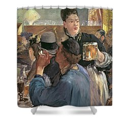 Corner Of A Cafe-concert Shower Curtain by Edouard Manet