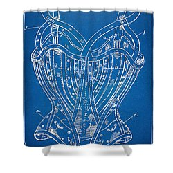 Corset Patent Series 1905 French Shower Curtain by Nikki Marie Smith