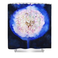 Cosmic Bloom Shower Curtain by Tara Thelen