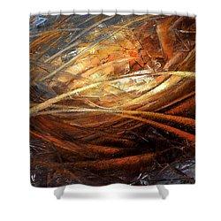 Cosmic Strings Shower Curtain by Arthur Braginsky