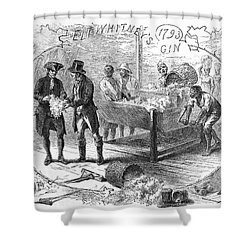 Cotton Gin, 1793 Shower Curtain by Granger