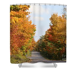 Country Road Shower Curtain by Beverly Livingstone