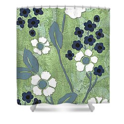 Country Spa Floral 1 Shower Curtain by Debbie DeWitt