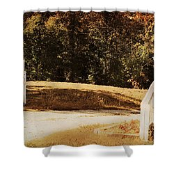 Country Welcome Landscape Shower Curtain by Jai Johnson