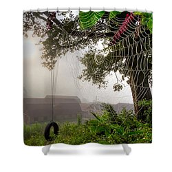 Country Wishes Shower Curtain by Debra and Dave Vanderlaan