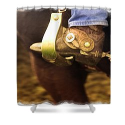 Cowboy Boot Shower Curtain by Carson Ganci
