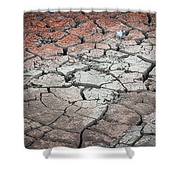 Cracked Earth Shower Curtain by Athena Mckinzie