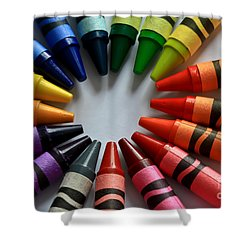 Crayola Color Shower Curtain by Tracy  Hall