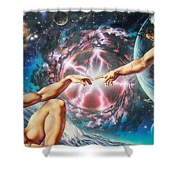 Creation Shower Curtain by Adrian Chesterman