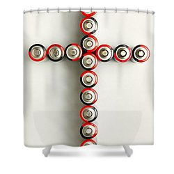 Cross Batteries 1 A Shower Curtain by John Brueske