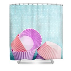 Cupcake Shower Curtain by Edward Fielding