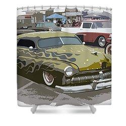 Custom Merc Shower Curtain by Steve McKinzie