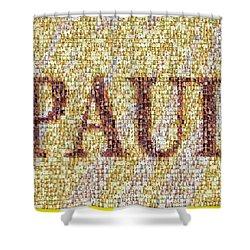 Custom Paul Mosaic Taylor Swift Shower Curtain by Paul Van Scott