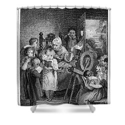 Dames School, 1812 Shower Curtain by Granger