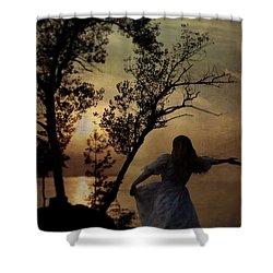 Dancing Girl Shower Curtain by Joana Kruse