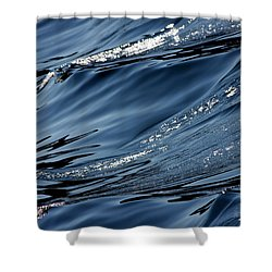 Dancing Waves Shower Curtain by Marie Jamieson
