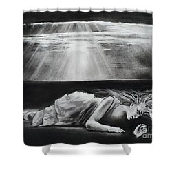 Darkness Falls Upon Me Shower Curtain by Carla Carson