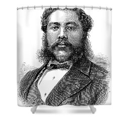 David Kalakaua (1836-1891) Shower Curtain by Granger