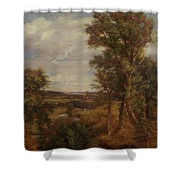 Dedham Vale Shower Curtain by John Constable