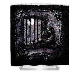 Deranged Shower Curtain by Rachel Christine Nowicki