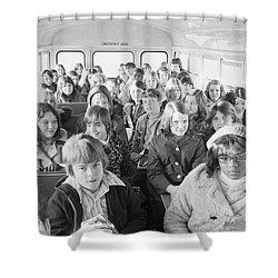 Desegregation: Busing, 1973 Shower Curtain by Granger
