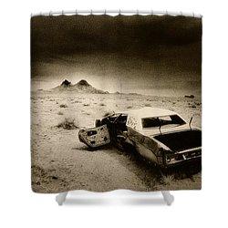 Desert Arizona Usa Shower Curtain by Simon Marsden