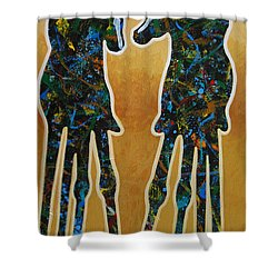 Desert Riders Shower Curtain by Lance Headlee