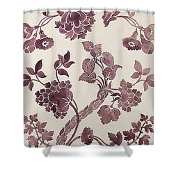 Design For A Silk Damask Shower Curtain by Anna Maria Garthwaite