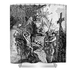 Destruction Of Idols, C1750 Shower Curtain by Granger