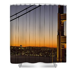Detail Of The Golden Gate Bridge At Shower Curtain by Axiom Photographic