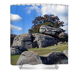 Devil's Den Formation 25 Shower Curtain by Paul W Faust -  Impressions of Light