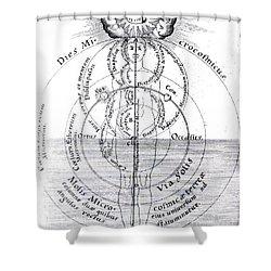 Dies Microcosmicus, Nox Microcosmica Shower Curtain by Science Source