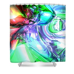 Disorderly Color Abstract Shower Curtain by Alexander Butler