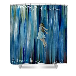 Divine Flow Shower Curtain by The Art With A Heart By Charlotte Phillips