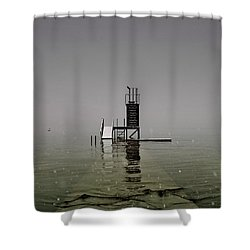 Diving Platform Shower Curtain by Joana Kruse