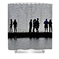 Dock Party Shower Curtain by Lisa Plymell