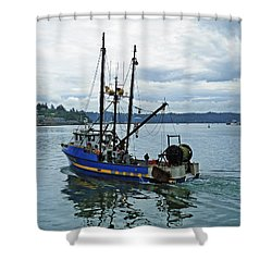 Done For The Day Shower Curtain by Methune Hively