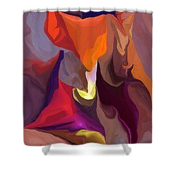 Don't Think About Elephants Shower Curtain by David Lane