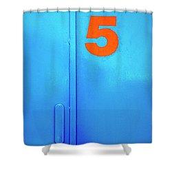 Door Five Shower Curtain by Carlos Caetano