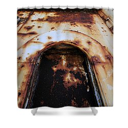 Door Of Rust Shower Curtain by David Lee Thompson