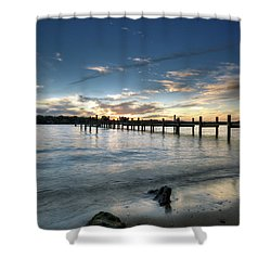 Down By The River Shower Curtain by Edward Kreis