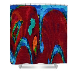 Down On My Knees Shower Curtain by Alec Drake