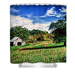 Down On The Farm Shower Curtain by Darren Fisher