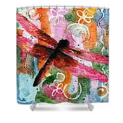 Dragonfly Fairy I Shower Curtain by Miriam Schulman