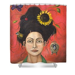 Dream Hair 2 Shower Curtain by Leah Saulnier The Painting Maniac