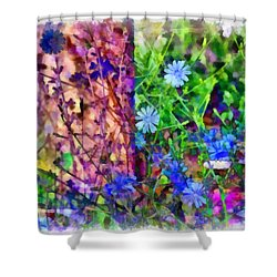 Dreaming Night And Day Shower Curtain by Angelina Vick