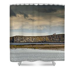 Dunstanburgh Castle On A Hill Under A Shower Curtain by John Short