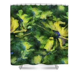 Duo Daisies - Bk01bdp01a Shower Curtain by Variance Collections