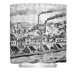 Dupont Powder Mill, 1854 Shower Curtain by Granger
