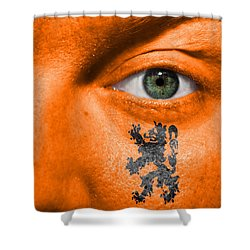 Dutch Lion - Coat Of Arms Shower Curtain by Semmick Photo